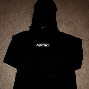 Supreme Black Bandana Box Logo Hoodie